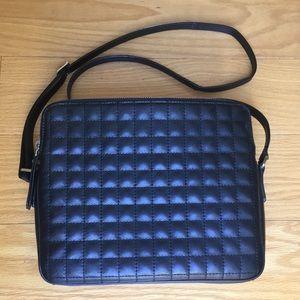 Banana Republic black leather crossbody bag